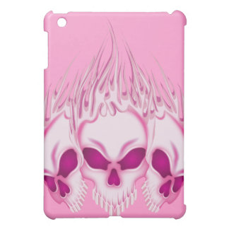 Flaming Pink Skulls Cover For The iPad Mini
