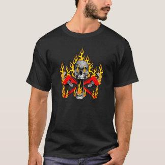 Flaming Plumber Skull T-Shirt