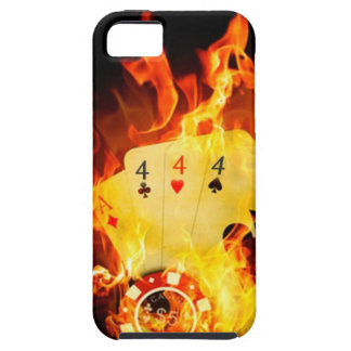 Flaming Poker Hand iPhone 5 Case