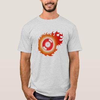 Flaming Record T-Shirt