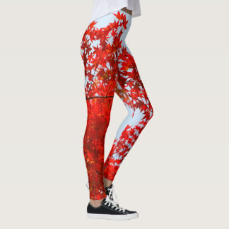 Flaming red oak leggings