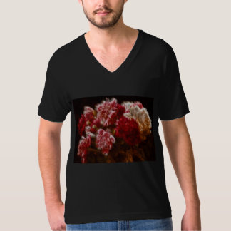 Flaming Red Peony Flower Bouquet T-Shirt
