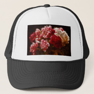 Flaming Red Peony Flower Bouquet Trucker Hat