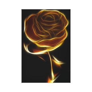 Flaming Rose Canvas Print