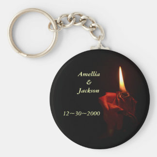 Flaming Rose Keychain