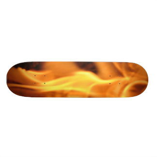 Flaming Skateboard