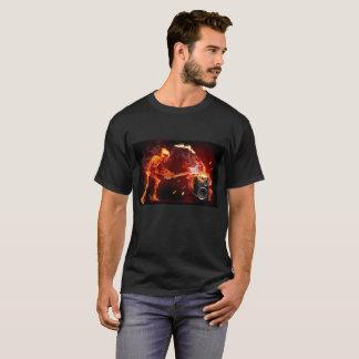 Flaming Skeleton T-Shirt for Men