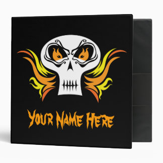 Flaming Skull Binder