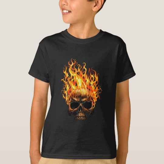 Flaming-Skull-(Black) T-Shirt