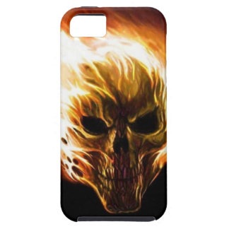 Flaming Skull Case For The iPhone 5