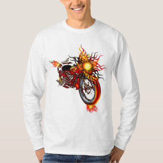 Flaming Skull Chopper Sweater