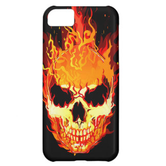Flaming Skull iPhone 5C Case