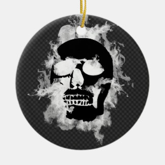 Flaming Skull Ornament