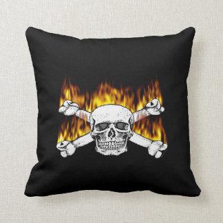 Flaming Skull Pillows