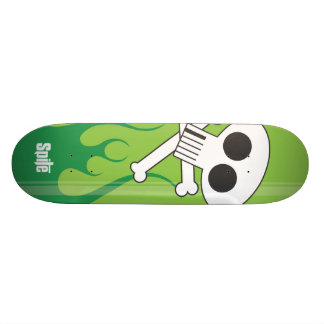 Flaming  Skull Skate Board Decks