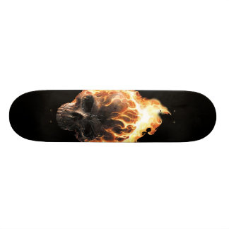Flaming Skull Skateboard