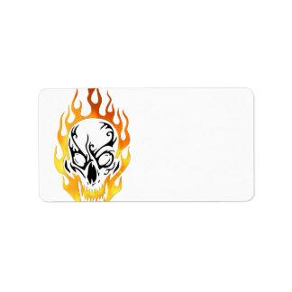 Flaming Skull Tattoo
