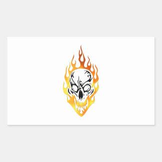 Flaming Skull Tattoo Sticker