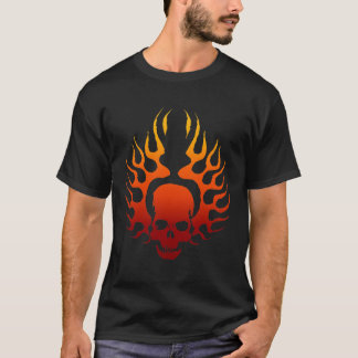 Flaming Skull Tattoo T-Shirt