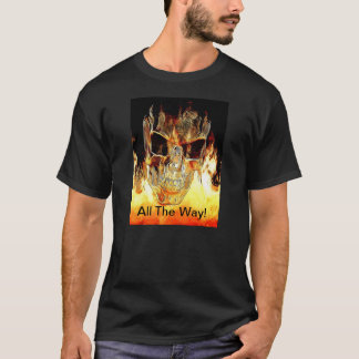 Flaming Skull Tee Shirt