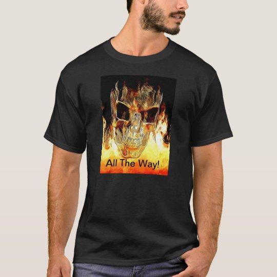 Flaming Skull Tee Shirt