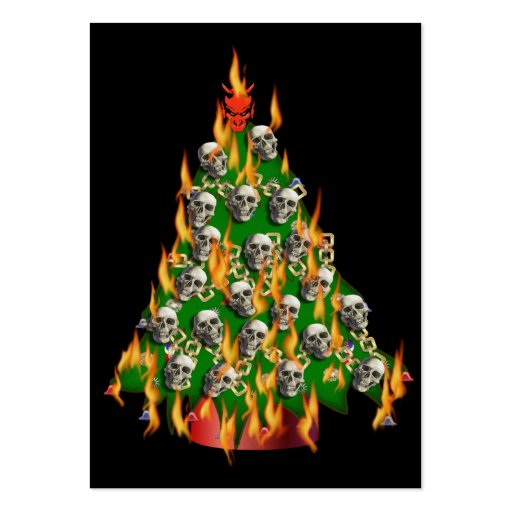 Flaming Skull Tree Business Card Templates