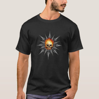 Flaming Skull with Swords T-Shirt