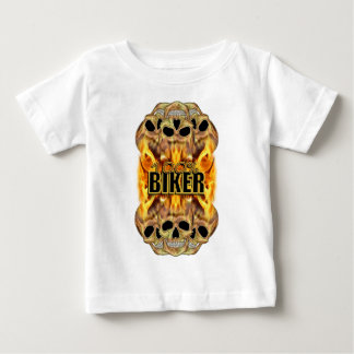 Flaming Skulls 100% Biker Baby T-Shirt