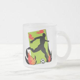 Flaming Soccer T shirts and Gifts Mugs