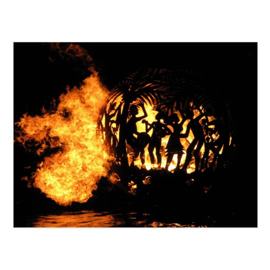 Flaming sphere @ Full Moon Party Postcard