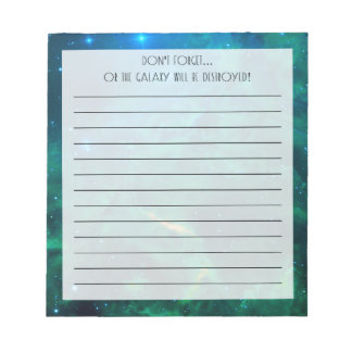 Flaming Star Nebula Notepad