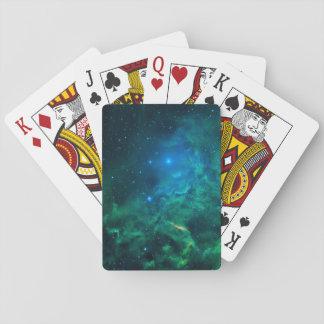 Flaming Star Nebula Playing Cards