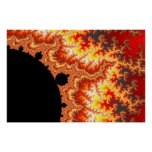 Flaming Sun - Fractal Print