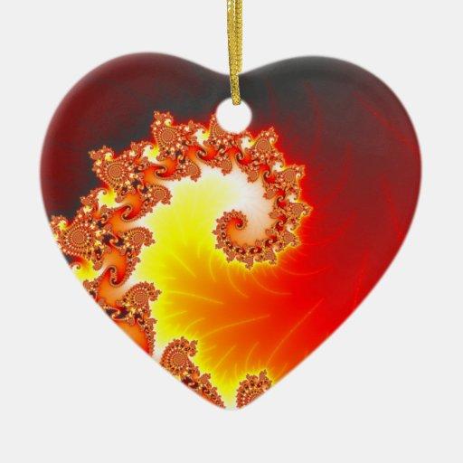 Flaming Tentacle - Fractal Art Christmas Tree Ornaments