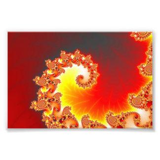 Flaming Tentacle - Fractal Art Photo Print
