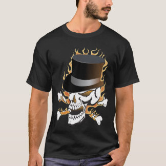 Flaming Tophat Skull T-Shirt