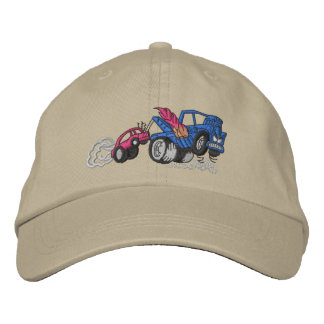Flaming Tow Truck Embroidered Hat