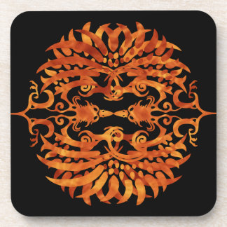 Flaming Tribal Phoenix Coaster