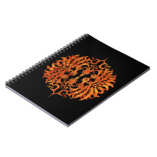 Flaming Tribal Phoenix Notebooks