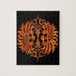 Flaming Tribal Phoenix Puzzle