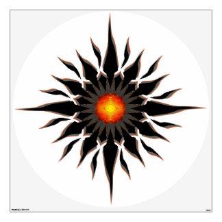 Flaming Tribal Sun Wall Sticker