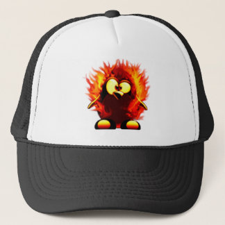 Flaming Tux (Penguin Torch) Trucker Hat