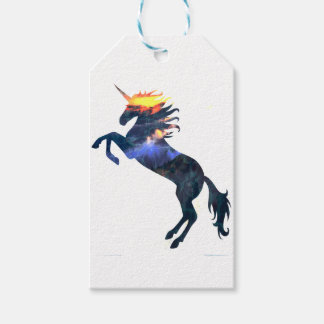 Flaming unicorn pack of gift tags