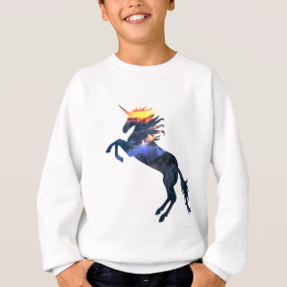 Flaming unicorn sweatshirt