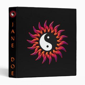 Flaming Yin Yang Sun Customizable Binder