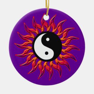 Flaming Yin Yang Sun Ornament