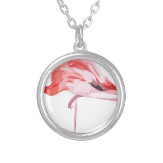 Flamingo_3 Silver Plated Necklace