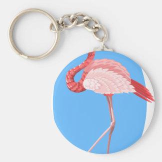 flamingo #7 keychain