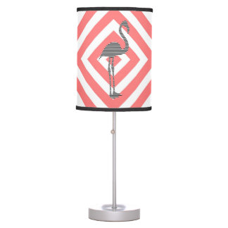 Flamingo - abstract geometric pattern - pink. table lamp