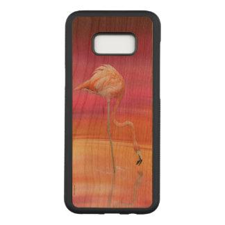 Flamingo acrobat carved samsung galaxy s8+ case
